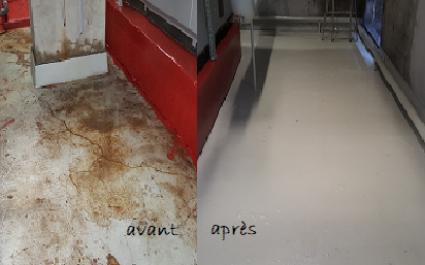 Rénovation peinture sol chaufferie